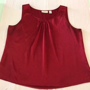 Chico's Red Satin Tank Top Size 2 (US L)